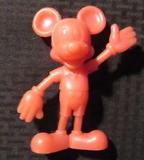 "Vintage Louis Marx 5.75"" Mickey Mouse Pink Plastic Figure Vg+ 4.5"