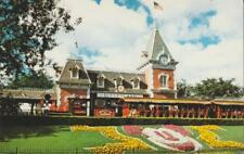 Disneyland Main Street Train Station Floral Mickey Mouse Vintage 1980s Era PC