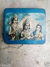 Old Ram Laxman Sita Litho Printed Small Agarbatti Rare Tin Box,Collectible