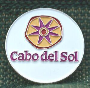 """RARE_Limited Edition_ Cabo del Sol  1"""" Ni-Silver Plated Ball Marker"""
