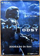Halo 3 ODST RARA XBOX 360 51.5cm x 73cm giapponese PROMO POSTER