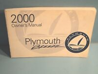00 2000 Plymouth Breeze owners manual