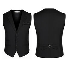 Men's Trendy Botton Formal Business Slim Fit Dress Vest Suit Tuxedo Waistcoat
