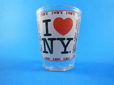 I LOVE heart NY New York Souvenir Shot Glass all around design