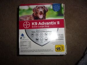 Bayer K9 Advantix ll Extra Large Dog over 55 lbs 3 doses EPA ApprovedProduct