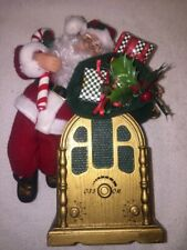 Vintage Holiday Creations Musical Radio Santa 1996 Plays Variety of Carols
