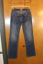 Women's GUESS Medium Wash Jeans with Crystal Pattern, Sz 26