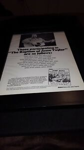 Johnny Russell Rednecks, White Socks, & Blue Ribbon Beer Promo Poster Ad Framed!