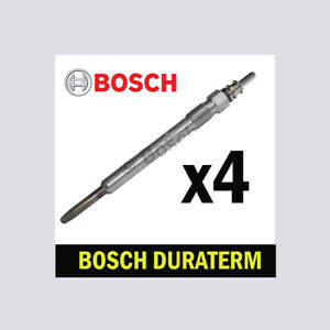 4x Bosch Glow Plugs for VAUXHALL INSIGNIA 2.0 CDTI A20DTC A20DTH A20DTJ