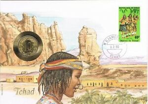Numisbrief Chad - Munt Central African States 10 frans1983