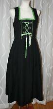 36 KAISER FRANZ  JOSEF Dirndl Kleid  in schwarz grün mit Schnürung