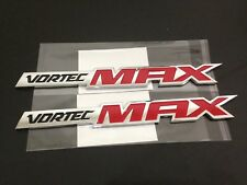 Silverado Vortec MAX High Output Emblems Badges Decals - Red (Pairs)