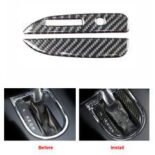 Carbon Fiber Interior Gear Shift Knob Cover Sticer Trim For Ford Mustang 2014-