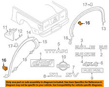 NISSAN OEM Pick Up Box Bed-Flare Clip 0155302923