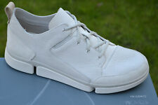 Clarks BNIB Mens Sporty Trigenic Shoes TRI VERVE LACE White Leather UK 8 / 42