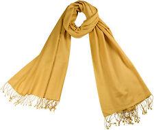 Pashmina Stola Zitronengelb, 70% Cashmere 30% Seide, silk yellow stole écharpe