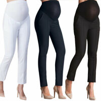 Maternity Pregnant Women Capris Casual Trouser Work Office Formal Pants Leggings