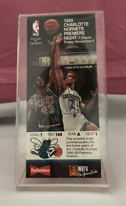 1988 Charlotte Hornets 1st Game Glen Rice Premiere Season Night Nov. 4th Ticket