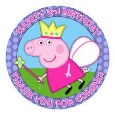 Personalizzata PEPPA PIG 51 mm adesivi tondi grazie Tag Bambini Partito Favori