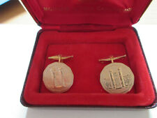 The Royal Canadian Mint Silver Cufflinks with RED Original Mint Box