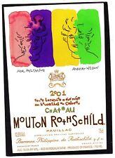 PAUILLAC 1GCC ETIQUETT CHATEAU MOUTON ROTHSCHILD 2001 75CL DECOREE EXPORT§23/10§