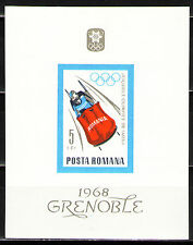 Romania 1967 Sc1958  MiBlk64  1 SS  mnh  10th Winter Olympic Games, Grenoble