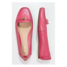 MICHAEL Kors MK Logo 7.5 May Moc Rose Pink Leather Loafers Casual Flats Walking