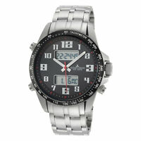 Jacques Lemans Men's Sport 44mm Black Dial Stainless Steel Chronograph Watch