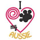 I Heart My Aussie Ladies Short-Sleeved T-Shirt 1285-2 Size S - XXL