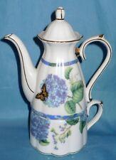 Tea Cup and Tea Pot Flower Painted 3pc Stackable Tea set