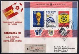 Soccer 1978 D04 used Cover Uruguay Registered