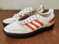 Vintage ADIDAS Gripper Turf Football Shoes Mens 6 1/2 New w/out Box UNWORN White