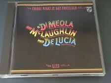Dimeola Mc Laughlin De Luca Friday Night In San Francisco  CD