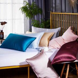 Carlty's Silk Pillowcases-100% Pure Mulberry Silk -22 Momme-Premium Silk-Grade A