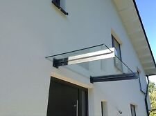 "Edelstahl Glas Vordach ""San Diego"" Anthrazit RAL 7016 VSG-TVG Glas"