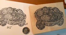 """Easter eggs rubber stamp WM 2.9x2.5"""" P33"""
