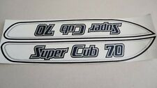 Honda C70 SUPER CUB gas tank paper stickers logos emblems H2322