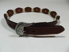 Womens  Nocona Belt Brown Leather Conchos Size 30