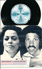 """DIANA ROSS LIONEL RICHIE 45 TOURS 7"""" ITALY ENDLESS LOVE (VOCAL)"""