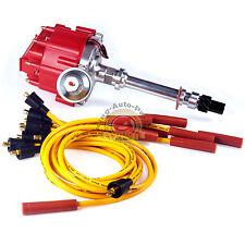 Chevy SBC 350 BBC 454 HEI Distributor & Spark Plug Wires Ignition Combo Kit GM08