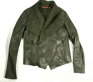 Saks Fifth Avenue Soft Leather Jacket Vest Small Brown