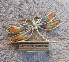 "Ganz Pewter Mini Colored Dragonfly Figurine ""Live With Gratitude"""