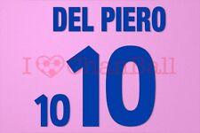 Del Piero #10 EURO 2000 Italy Awaykit Nameset Printing