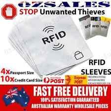 4x Passport & 10x ID RFID Blocking Credit Card Sleeve Shield Holder Protector 2