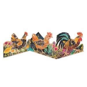 Art Angels Mark Hearld Chickens Concertina Card