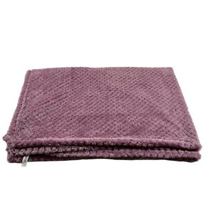 "Soft Plush Fleece Toddler Bed Blanket - Purple 38x26"" Baby Nursery Small Throw"