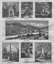 Gräfenberg-Österreichisch Schlesien. Mehrere Abbild. Original Holzstich von 1871
