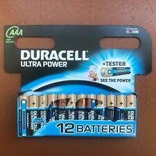 12 x Duracell AAA Ultra Power Alkaline Batteries - LR03, MX2400, MN2400, MICRO