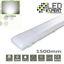 4x LED Expert DOBLE 152cm 1500mm 48w IP65 LED TUBO LUZ no corrosivo 150cm