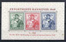 1949 Allied Occupation M/S SG A145 Hannover Trade Fair Miniature Sheet. MINT